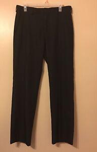 Izod Pantalon De Vestir Para Hombre Color Negro Corte Recto Ebay