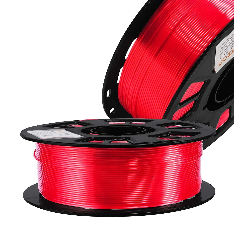 Silk Red PLA Satin Shiny 3D Printer Filament, 1.75mm Diameter 1kg Spool 2.2lbs