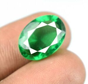 7.45 Ct Muzo Colombian Emerald May Birthstone Natural Oval AGI Certified A28042