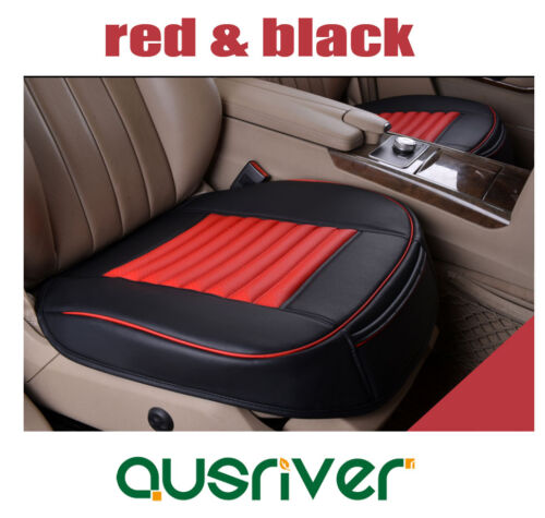 New Universal 3pcs Breathable Leather Car Front /& Rear Seat Cover Black /& Red
