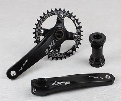 MTB ixf Crankset arm 170mm BB Narrow Wide single Oval 1x Chainring 32 34 36 38T