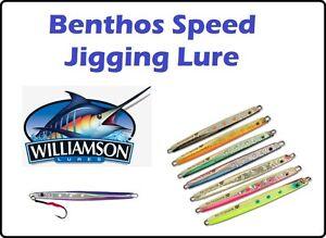 Williamson-Benthos-Glow-In-The-Dark-Speed-Jig-100g-Jigging-Lure-Sea-Fishing-Bait