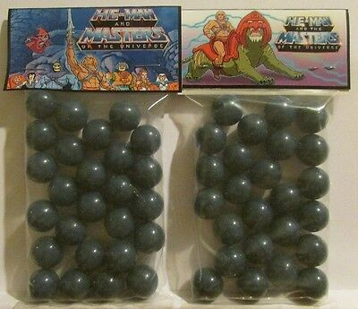 2 Bags Of He-Man Masters Of The Universe Comic Book Promo Marbles