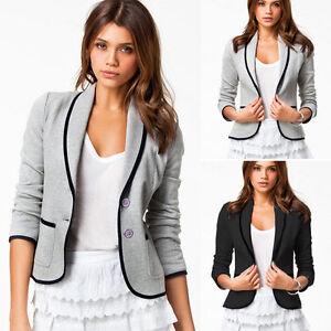 Fashion-Women-Casual-Slim-Suit-Blazer-Coat-Jacket-Outwear-Formal-OL-Work-Tops