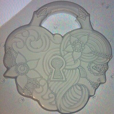Flexible Resin Mold Heart Shaped Lock Mould Sugar Skull Flower Resin Supplies