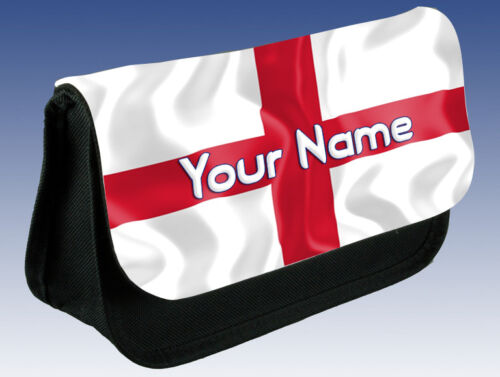 MAKE UP BAG /& NAMED ENGLAND ST GEORGE/'S FLAG PERSONALISED PENCIL CASE //DS CASE