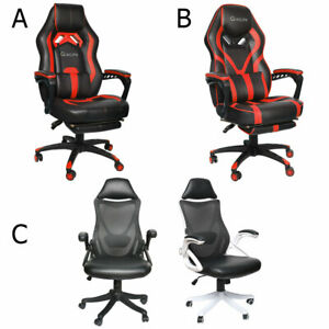Ergonomic Gaming Chair Racing High Back Leather Office Computer Recliner Seat