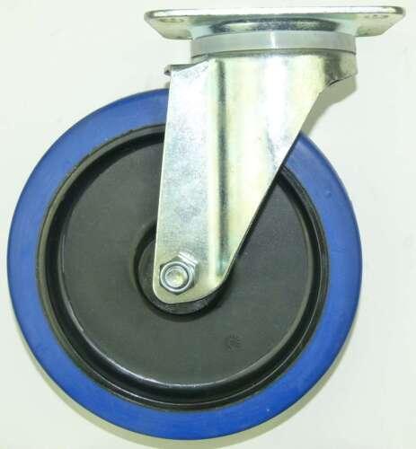 4 Rollen SL 200 mm Blue Wheel Lenkrollen Transportrollen Schwerlastrollen Wheels