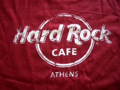 HRC HARD ROCK CAFE Atene Athens RED TEE SHIRT usati ottica Youth size 158-164 Boys