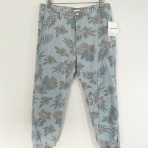 Mother-No-Zip-Misfit-Chambray-Jogger-Floral-Womens-Size-30-NWT