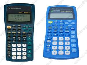 Texas-Instruments-TI-40-II-College-Schulrechner-wie-NEU-Taschenrechner