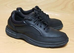 rockport prowalker 85 mens black leather casual oxford