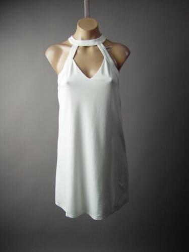 White Choker Mock High Neck Party Mod 60s Swing Flare A-Line 224 mv Dress S M L