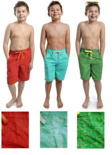 Boys Kids Shark Print Swim Shorts ~  6-13 Years