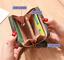 thumbnail 7 - Girls Womens Small PU Leather Short Wallet Cards Holder Coins Purse Lady Handbag
