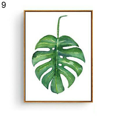 HK- Modern Watercolor Plant Canvas Painting Palm Leaf Art Print Wall Poster Arde