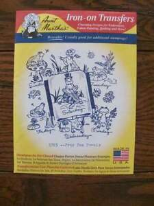 Details about Aunt Martha's Hot Iron Transfer #3765 Frog Tea Towels Pattern  New