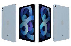 Apple iPad Air 4th Generation 2020- 64GB - Sky Blue - Wi-Fi Pristine Condition