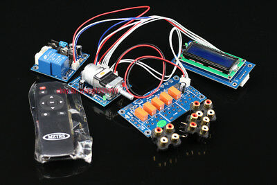 Assembeld Motor preamp Remote volume control board+display+PSU+input switch