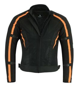 e44b6fdd68a Image is loading Black-Tab-Motorcycle-Air-Mesh-Jacket-Orange-CE-