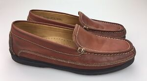 DOCKERS-Men-039-s-Catalina-Loafers-Driving-Shoes-Saddle-Brown-Leather-Size-13M