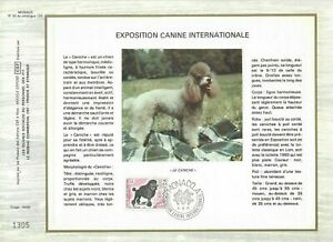 FEUILLET-CEF-1er-JOUR-MONACO-EXPOSITION-CANINE-INTERNATIONALE-1975