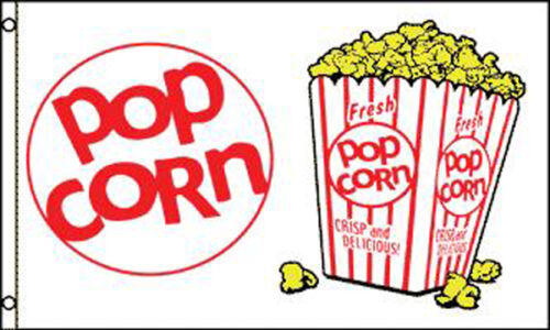 POP CORN SALES FLAG #494 food business flags banner NEW popcorn advertising sign