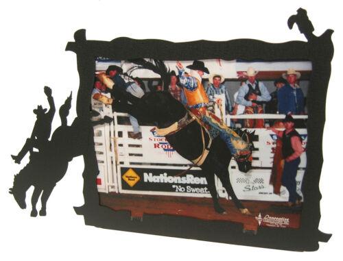 Bronco Rider 8x10 Horizontal Black Metal Picture Frame
