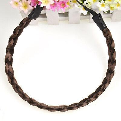 1PC Women Bohemian Braided Plait Plaited Hair Hoop Headband Hair band Elastic