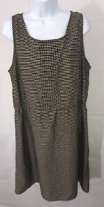 MNG-By-Mango-Size-XXL-Black-Polka-Dot-Sleeveless-Lightweight-Dress