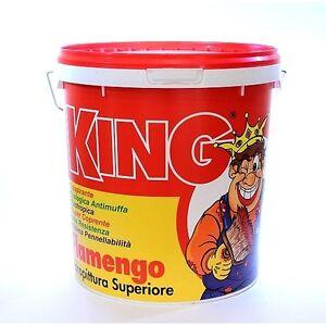 Colore Traspirante Per Interni.Pittura Lavabile Traspirante Per Interni Muro Bianca King Flamengo