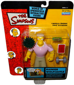 Simpsons Rainier Wolfcastle Action Figure Wos Mib Series 11