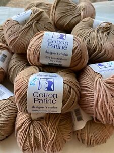 Elsebeth Lavold Cotton Patine 110 Meters Cotton Pink Latte Yarn Made in Italy