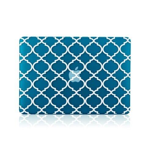 """Quatrefoil Moroccan AQUA Matte Hard Case for Macbook PRO 15/"""" A1286"""