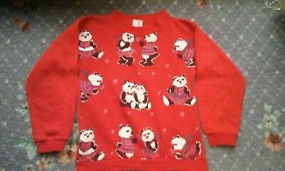 Accurato Vintage 80s Childs Jumper (panda)-mostra Il Titolo Originale Ricco Di Splendore Poetico E Pittorico