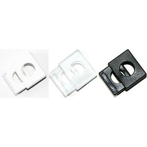 0,22 EUR//Stück Kordelstopper 200 Stk bis 5,3mm Kordeldurchmesser #1 1-Loch