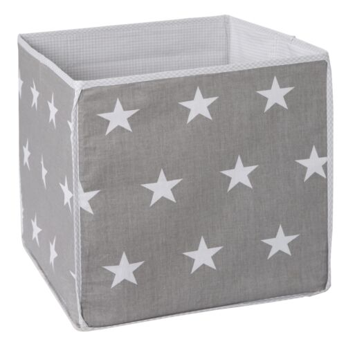 34x34x34 cm  NEU Roba Aufbewahrungsbox Little Stars dunkelgrau