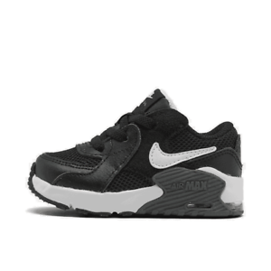 boys' toddler nike air max excee casual shoes black/white