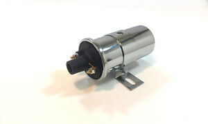 12V-Universal-Chrome-Ignition-Street-Coil-Canister-without-Resistor-Hot-Rod