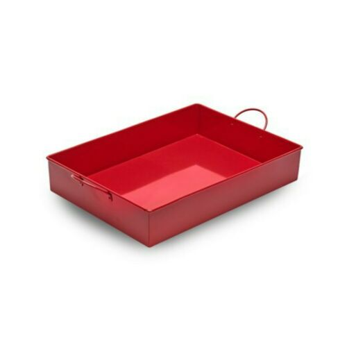 MT040 Red Shallow Metal Tray