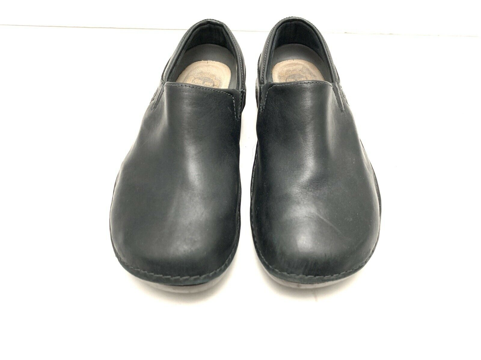 Timberland Women's mules Black Leather Size US 5.5 M read 85613