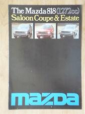 MAZDA 818 SALOON COUPE ESTATE orig 1976 1977 UK Mkt Sales Brochure