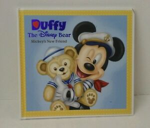 Disney-Parks-DUFFY-BEAR-Mickeys-New-Friend-HARDCOVER-Book-PRE-owned