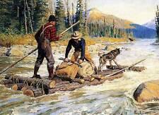 Hunterr Log Raft Dog Moose by Phillip Goodwin