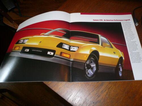 1986 Chevrolet Camaro Sales Brochure Vintage