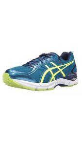 ASICS-Gel-Exalt-3-Shoe-Men-039-s-Running-Thunder-Blue-Safety-Yellow-Indigo-Blue-US-7