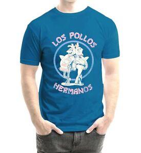T-shirt-Breaking-Bad-Los-Pollos-Hermanos-Blue-maglia-Uomo-ufficiale-serie-tv