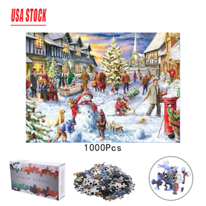 1000-Piece-Jigsaw-Puzzle-Christmas-Snowy-Home-Large-Jigsaw-Puzzle-Game-Toys