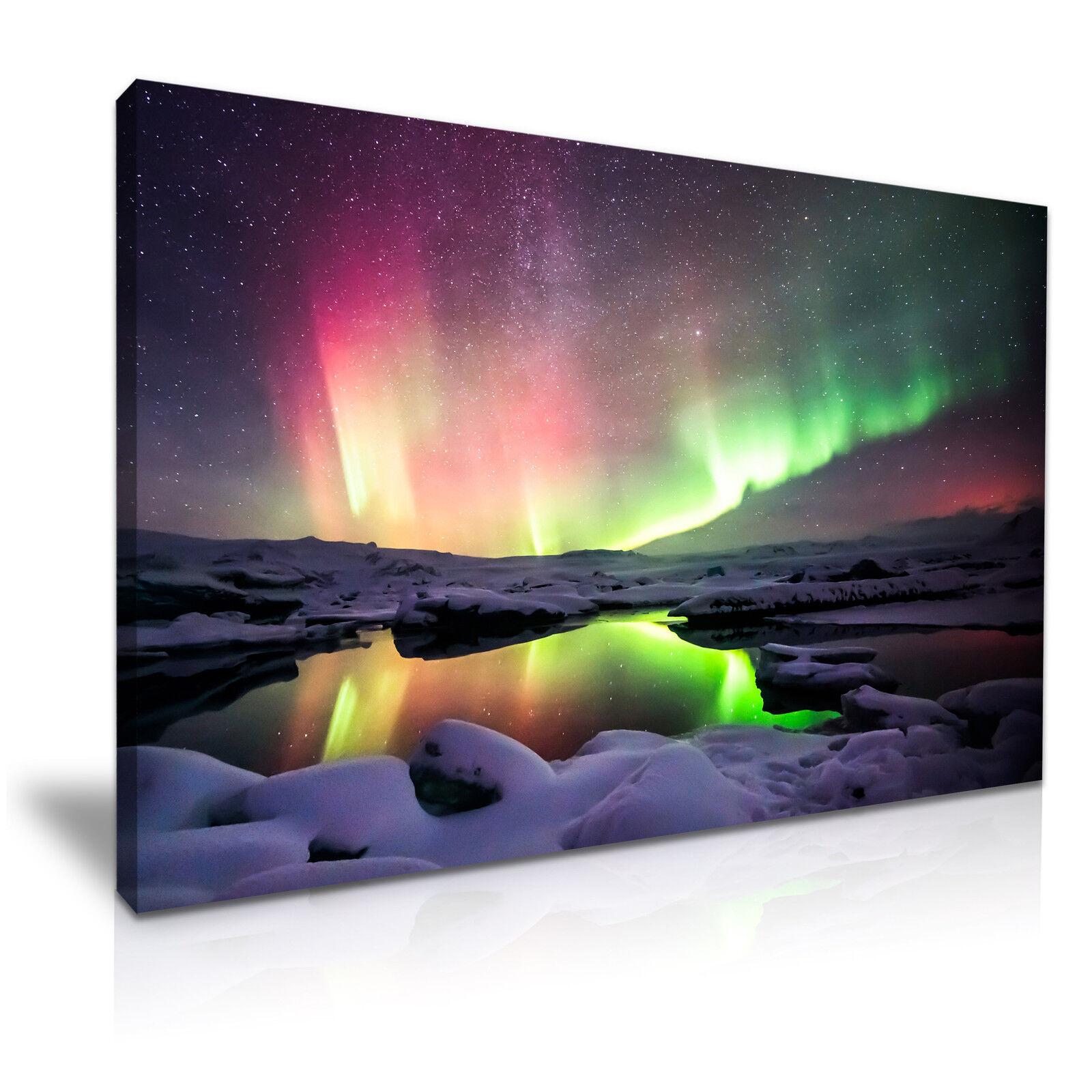Northern Lights Islanda Tela Muro Immagine Stampa  9 9 9 Taglie f0c595