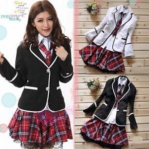 Japan school girl uniform costume tartan dress surcoatjapanese image is loading japan school girl uniform costume tartan dress surcoat solutioingenieria Choice Image